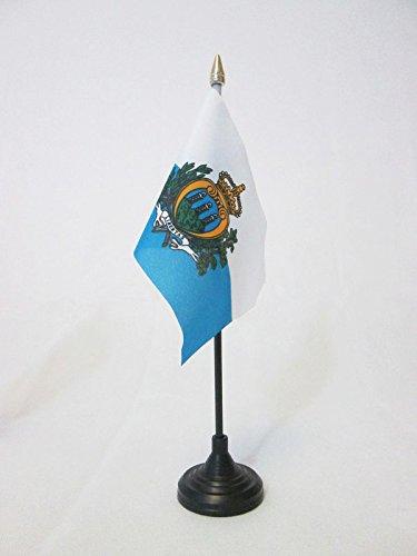 golden spear top AZ FLAG San Marino Table Flag 4 x 6 Sammarinese Desk Flag 15 x 10 cm