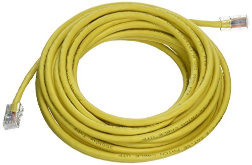 Crossover Yellow 25 Cat5e - C2G 26696 Cat5e Crossover Cable - Non-Booted Unshielded Network Patch Cable, Yellow (25 Feet, 7.62 Meters)