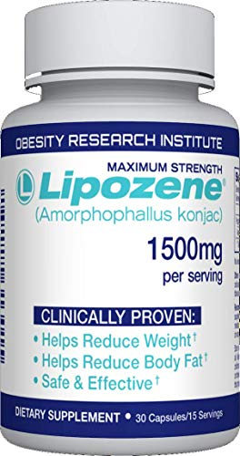 Lipozene Diet Pills - Weight Loss Supplement - Appetite Suppressant and Control - 1 Bottle 30 ...
