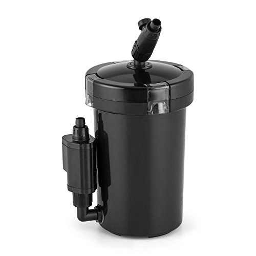 DURAMAXX Clearflow-6UVL Aquarium Filter Wasser Außenfilter für Aquarien bis 120 Liter Größe (sparsame 6W Pumpe, moderne 4-Stufen-Filter-Technik, 400 l/h, einfache Reinigung) schwarz