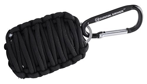 Survival GRENADE Emergency Key Chain Survival Kit - Paracord Grenade Survival Kit with 8+ Tools + Fire Starter & Eye Knife Large Grenade