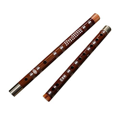 (Bamboo flute Flute Musical Instrument Beginner Flute Professional Performance Solo Wood flutz CDEFG Five-Tone The Best Gift for Children's Music Fife (Color : Red, Size : D key622.52.5cm))