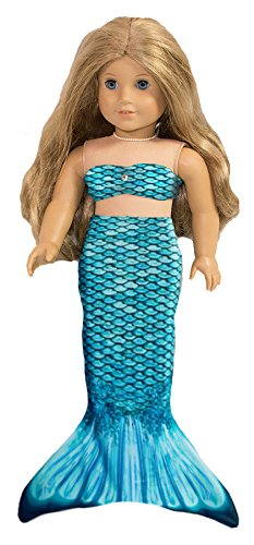 Fin Fun Mermaid Tail Outfit for 18 Inch Doll like