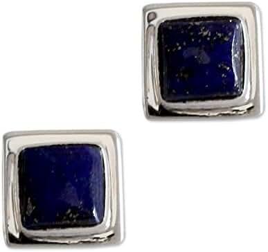 NOVICA Lapis lazuli .925 Sterling Silver Stud Earrings 'Hindu Galaxy'
