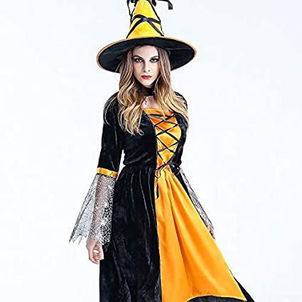 Mjia Cloth Disfraz de Halloween Adulto, Falda de Bruja Cosplay ...