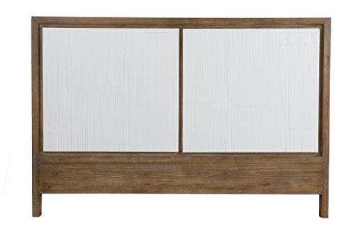 East at Main Mode Headboard w/Teak and Crushed Bamboo Resin, (63.5x3x43.3)/queen (Bamboo Queen Headboard)