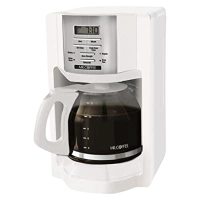 Mr Coffee?® White 12-Cup Programmable Coffeemaker