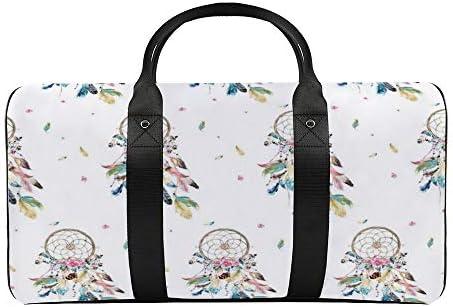 ボヘミアンドリームスフリーフォーリング1 旅行バッグナイロンハンドバッグ大容量軽量多機能荷物ポーチフィットネスバッグユニセックス旅行ビジネス通勤旅行スーツケースポーチ収納バッグ