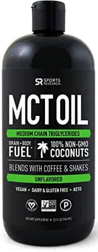 Premium MCT Oil derived only from Non-GMO Coconuts - 32oz BPA free bottle | Ketogenic and Paleo diet approved ~ Non-GMO Project Verified