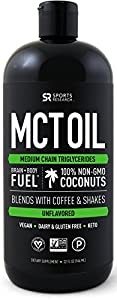 Premium MCT Oil derived only from Non-GMO Coconuts - 32oz BPA free bottle | Great in Keto Coffee,Tea, Smoothies & Salad Dressings | Non-GMO Project Veified & Vegan Certified (Packaging may vary)