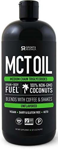 Premium MCT Oil derived only from Non-GMO Coconuts - 32oz BPA free bottle | Great in Keto Coffee,Tea, Smoothies & Salad Dressings | Non-GMO Project Veified & Vegan Certified (Unflavored)