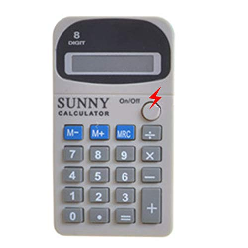 Cooplay Shocking Fake Calculator Model Pocket Counter Prank Toy Joke Funny Gadget Electric Shock Tricky Gag Veigar April…