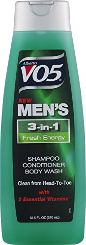 3 Pk, Alberto VO5 Men's 3-in-1 Shampoo Conditioner Body Wash Fresh Energy, 12.5oz by V05