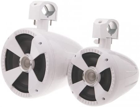 Gloss White Pair Soundstream WTS-8W 8 Wake Tower Speakers
