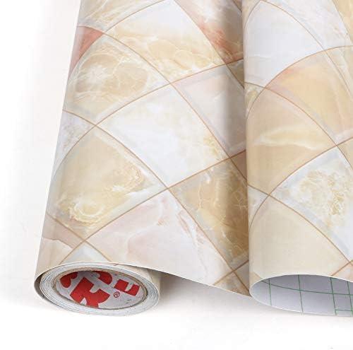 Queen Trading 壁紙シール 大理石 リメイクシート のり付き 壁紙 はがせる 壁紙 カッティングシート防水 キッチン リフォーム シート 貼り付け簡単 家具リフォーム補修 浴室 テーブル ウォールステッカー