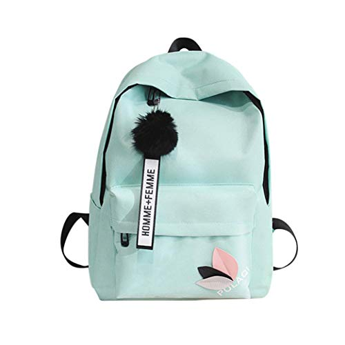 Girls Neutral Shoulder Canvas Bag Fashion Boy purse Green teenage Handbag folding School Casual Bag VPASS Backpack atqxwP