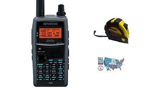 Bundle - 3 Items - Includes Kenwood TH-D72A Handheld radio, 2m/70cm, 5W, APRS with the New Radiowavz Antenna Tape (2m - 30m) and HAM Guides Quick Reference Card