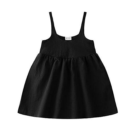 Baby Girl Dress, Children Casual Tank Dress, Kid / Toddler Sleeveless Mini Dress