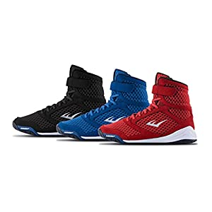 354a4bf0fe542 Everlast-New-Elite-High-Top-Boxing-Shoes-Black-Blue-Red - Boxing914.com
