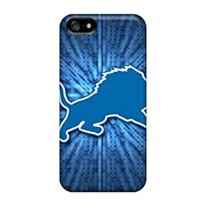 Shockproof Hard Phone Case For Iphone 5/5s (oRa2058PUtn) Provide Private Custom Stylish Detroit Lions Pattern