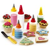 CostMad ® 11 Piece Baking Cupcake Birthday Wedding Party Cake Cookie Cake Decorating Multi Coloured Frosting Icing Desert Gift Set