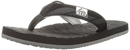 Reef Grom Roundhouse Sandal , Black, 2/3 M US Little Kid