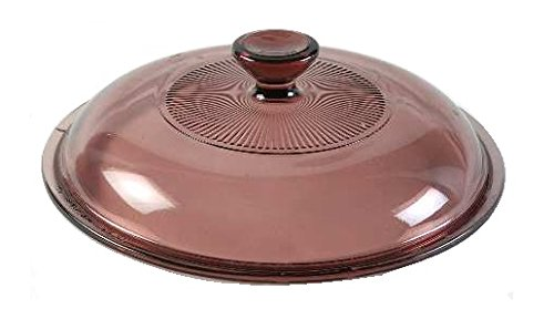 Cranberry Circa (Corning Ware / Pyrex Cranberry Round Glass Lid ( Ribbed ) ( 6 7/8