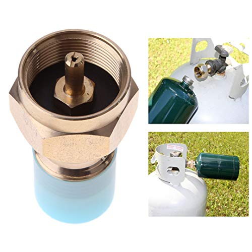 Outdoor Camping Hiking Stove Adaptor Propane Refill Adapter Lp Gas Furnace Connector Cylinder Tank Coupler Heater Camping Hunt ()