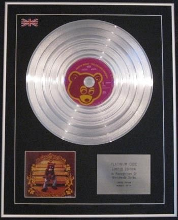 KANYE WEST - Limited Edition CD Platinum Disc - COLLEGE DROPOUT