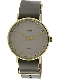 Weekender Fairfield 41 | Green Leather Strap Minimal Dial | Watch TW2P98000