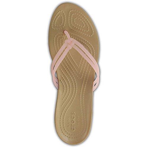 Crocs Dames Isabella Flip Flop Abrikoos / Goud
