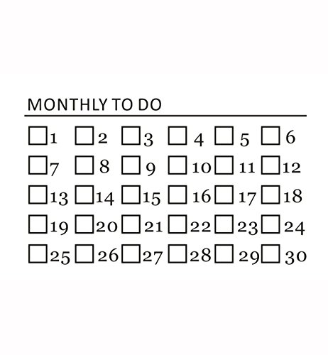 Fantasy Life DIY Daily Planner Monthly Planner Birthday Reminder Weekly Planning Pad Student Planner To-do Pad Self Inking Rubber Stamps Monthly To Do by Fantasy Life