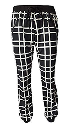 Nero bianco Donna Wunderschöne Pantaloni Hose qPcA7z4