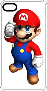 Mario Tipping His Hat Clear Rubber Case for Apple iPhone 5 or iPhone 5s