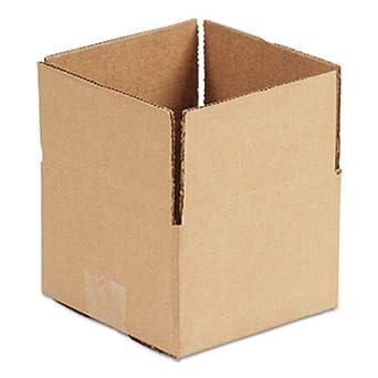 Cajas de envío onduladas color marrón, 6 l x 4 W x 4 h, 25 ...