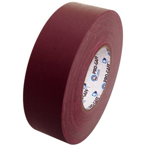 Burgundy Gaffers Tape - Pro Gaff Gaffers Tape 1 and 2 inch widths, 17 colors available, 2 inch, Burgundy