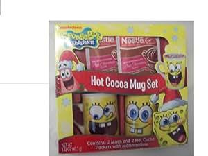 SpongeBob Squarepants Hot Cocoa Mug Set Ceramic