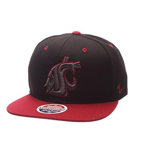 (NCAA Washington State Cougars Adult Men's Z11 Phantom Snapback Hat, Adjustable Size, Black/Team Color)