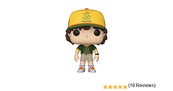 Funko- Pop Vinilo: Stranger Things: Dustin (At Camp) Figura Coleccionable, Multicolor, Estándar (38532)