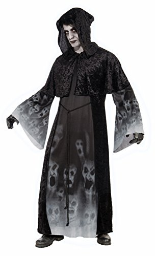 Forum Novelties Men's Ghostly Spirits Forgotten Souls Costume, Black, (Zombie Costume Mens)