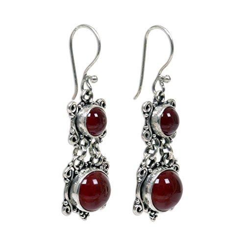Sterling Silver Carnelian Earrings - 2