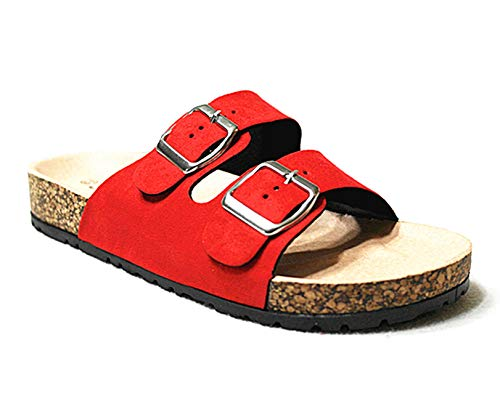Forever Link Womens Birken 14 Casual Sandal Shoes Red 5