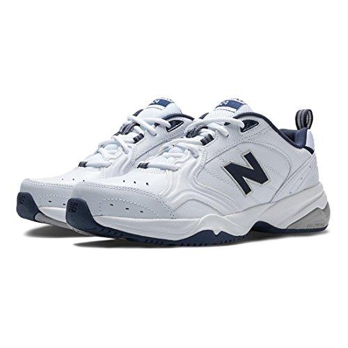 New Balance Men's MX624v2 Casual Comfort Training Shoe, White/Navy, 11.5 2E US