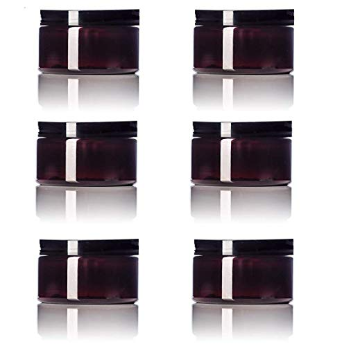 small amber plastic jars - 3