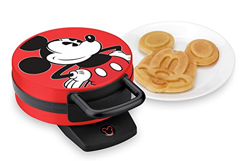 Disney DCM-12 Mickey Mouse Waffle Maker, Red by Disney (Image #1)