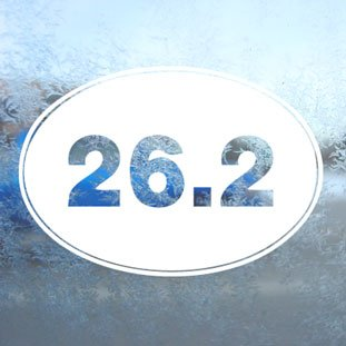Oval 26.2 Marathon Runner (26.2 Oval Marathon White Decal Running Runner Car White Sticker)