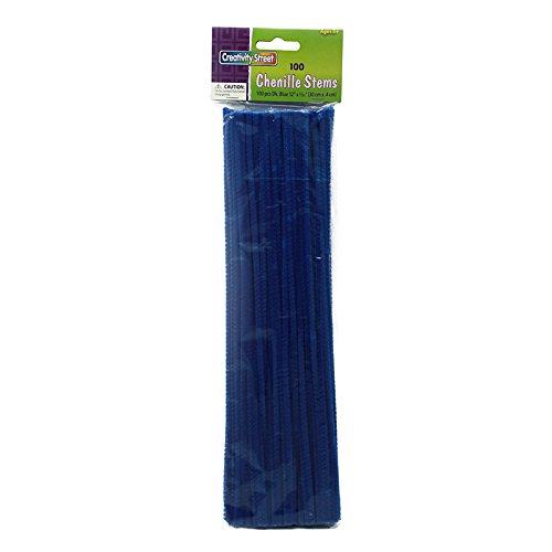 CHENILLE KRAFT COMPANY CHENILLE STEMS BLUE 12 INCH (Set of 50)