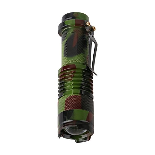 Majestic Lens - 1 Pack 1000 Lumens Camouflage Army Green XPE LEDs Flashlight 3W Convex Lens Flashlights Majestic Fashionable Ultra Xtreme Tactical Military Bright Light Waterproof Outdoor Running Camping Lights