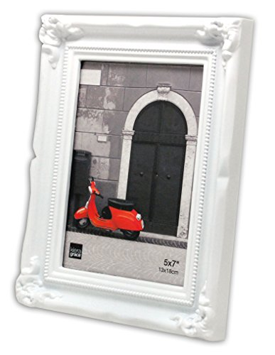Kiera Grace Georgia Picture Frame, 5 by 7 Inch, White