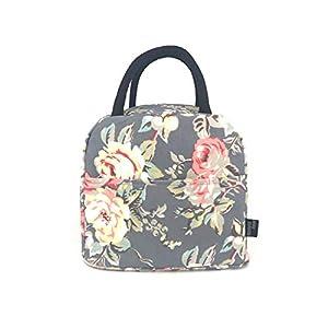 wonderful flower Insulated Lunch Box Cooler Bag lunch bag flower (G06Gray)